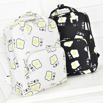 harajuku bags 2017 korean backpack new sport kawaii Japanese poached egg portable shoulder bag school bags schoolbag backpacks