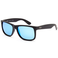 Ray-Ban Justin Sunglasses Black/Black One Size For Men 25843418401