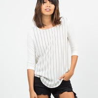 Contrast Striped Jersey Top