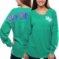 UCF Knights Women's Pacific Impact Pom Pom Long Sleeve T-Shirt – Teal