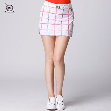 2018 Women Short Plaid Skirt  Golf Tennis Short Culottes Cheerleading Performances Dance Clothes Sport Shorts Skirts for Girls