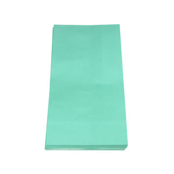 Solid Color Paper Treat Bags, 9-1/2-Inch x 5-Inch, 12-Piece, Aqua