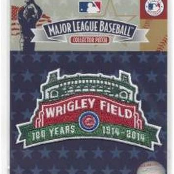 2014 Chicago Cubs Wrigley Field 100th Anniversary Patch 100% MLB Jersey Logo