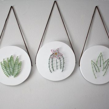 Succulent art, Cacti art, wall hanging, living room wall art, bedroom wall art, home decor, nursery wall art, gift, plant art, boho decor