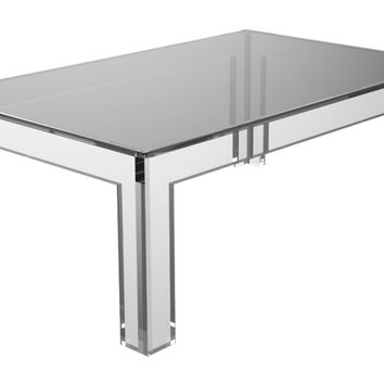 "Oliver 44"" Cocktail Table, Clear, Acrylic / Lucite, Sofa Table, Coffee Table"