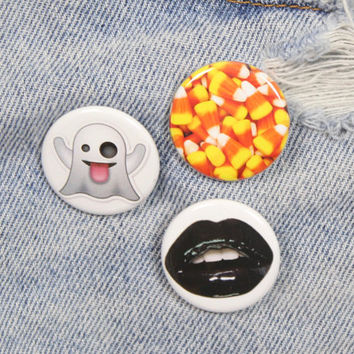 Candy Corn 1.25 Inch Pin Back Button Badge