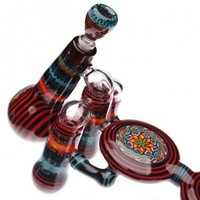 Kevin Murray Glass - Heady Fillacello & Wig Wag Quad Chamber Bubbler Set