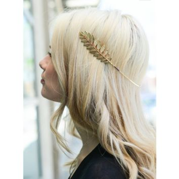 Gold Grecian Halo Boho Headband