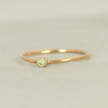 Classic Rose Gold Filled Peridot Ring