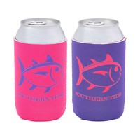 Southern Tide Reversible Koozie in Pink and Purple 1211-6-PP