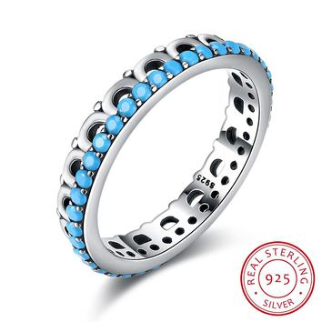 925 Sterling Silver Ring Retro turquoise simple sterling silver ring