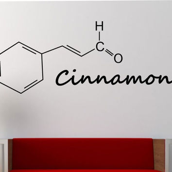 Cinnamon Molecule Wall Decal Vinyl Sticker Art Decor Bedroom Design Mural education science educational geek nerd teach creative art