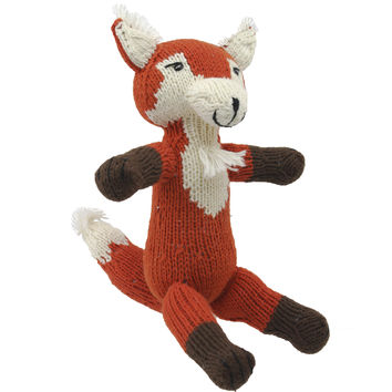 Fox, Eco Friendly Plush Toys, 100% Organic Cotton, Handmade With Love