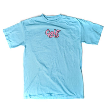 CURSIVE GOLF TEE POOL BLUE