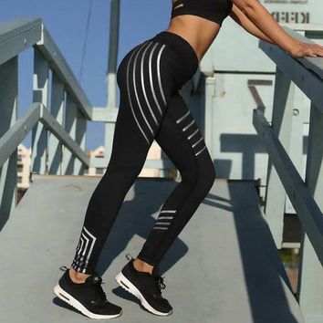 Stripe detail running lounge workout fitness leggings