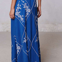 Anthropologie - Ping Embroidered Maxi Skirt