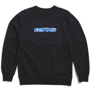 Camo Undefeated Crewneck Sweatshirt Black
