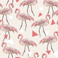 Funky Flamingos Removable Wallpaper