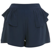 Navy Peplum Short - View All  - Sale & Offers