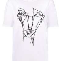 Georgia Embroidered Squiggle T-Shirt | Boohoo