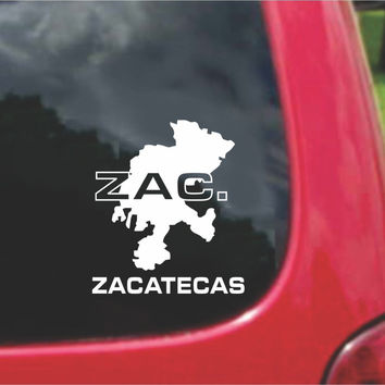 Zacatecas Mexico Outline Map Sticker Decal 20 Colors To Choose From.