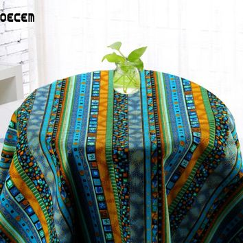 African Style Cotton Linen Fabric Strips Pattern Linen Fabric Meter For Table Cloth Bedding Curtain Pillow 145*50CM OM45