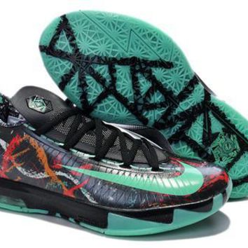 spbest Nike Men's Durant Zoom KD 6 Basketball Shoes Black Green 40-46