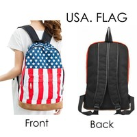 Canvas Casual Backpack for Women Trendy Hot Product Fashion Hot Sale Unisex Punk Book Campus Cute Backpacks for College Girls, Rucksack Backpack for Teen Girls for School Style Pattern Bag : USA. Flag