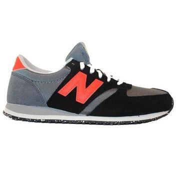 ONETOW new balance 420 capsule black orange suede mesh lifestyle sneaker