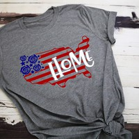 Home 4th of July Adult Tee