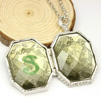 The Series of novels Harry Potter Salazar Slytherin's relics pendant box Slytherin College Treasures Voldemort's Horcruxes NN001