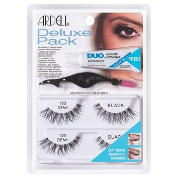 Ardell Deluxe Pack 120 Black with Free Applicator