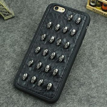 Leather 3D Skull Phone Case