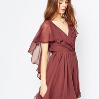 ASOS Cape Sleeve Mini Dress