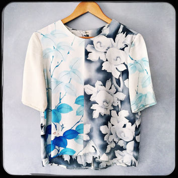 silk tee top, made with vintage kimonos
