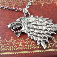 Song Of Ice And Fire Game Of Thrones Wolf Pendant Necklace