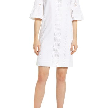 J.Crew Flutter Sleeve Eyelet Dress | Nordstrom