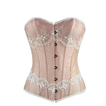 Waist Control Corsets and Bustiers Women Sexy Overbust Corset Top Gothic Corselet Lace Up Body Shaper For Women