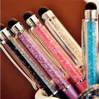 Cute Kawaii Metal diamond Crystal ballpoint Pen Touch Ball pen for Ipad Iphone Gift School Office Supplies 277