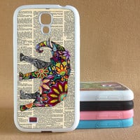 Samsung Galaxy s4 case galaxy s3 case Elephants Galaxy S4 cover Galaxy S3 cover Hard / Rubber case Samsung Galaxy s5 case