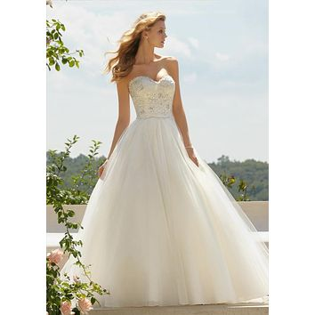 Voyage by Mori Lee 67491 Lace Strapless Ball Gown Wedding Dress