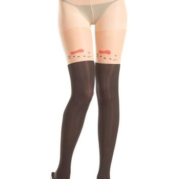 Be Wicked Bow Kitty Pantyhose