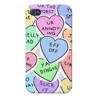 conversation hearts case for iPhone 4