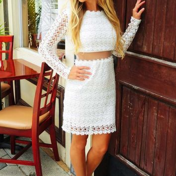 A Beautiful Day Dress: White