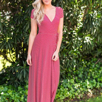 Timeless Wrap Red Maxi