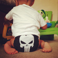 Punisher All In One (AIO) Cloth Diaper - One-Size or Newborn, S, M, L
