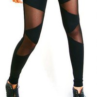Triangle mesh leggings | UsTrendy