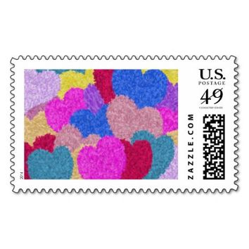 The Fragmented Hearts Postage Stamp