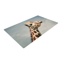 "Angie Turner ""Giraffe"" Animal Woven Area Rug"