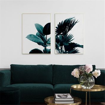 Creative Scandinavian Decorative GREEN PLANT Canvas Art Print Wall Poster Wall Pictures Painting Wall Art for Bedroom Living Roo